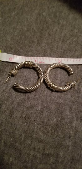 David Yurman David Yurman cable 34mm gold and silver earring