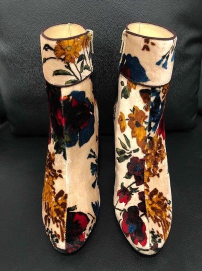 Christian Louboutin Moulamax Stiletto Floral Ankle nude Boots