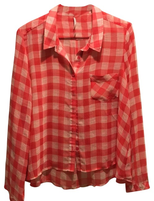 Preload https://img-static.tradesy.com/item/24220508/free-people-red-and-white-check-blouse-size-10-m-0-1-650-650.jpg
