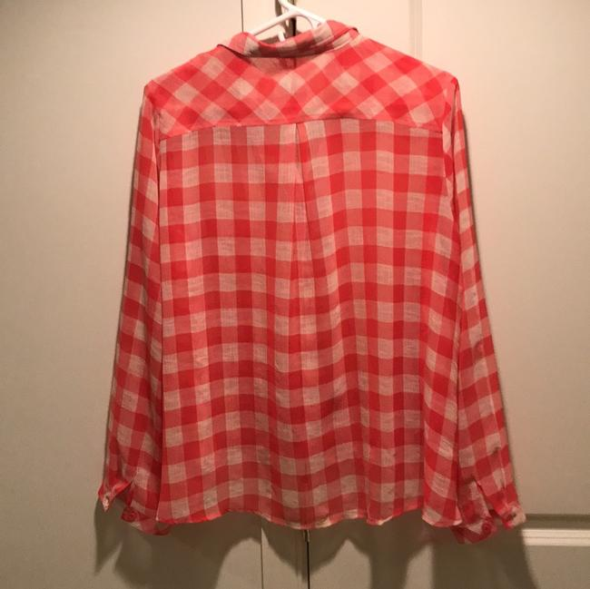 Free People Top red and white check