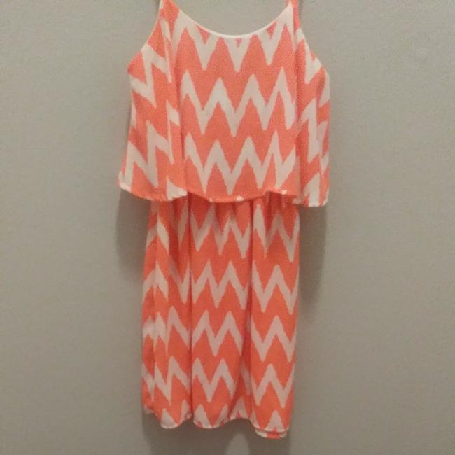Preload https://img-static.tradesy.com/item/24220611/rue-21-fluorescent-orange-70829-mid-length-short-casual-dress-size-2-xs-0-0-650-650.jpg
