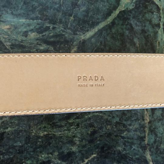 Prada Prada real exotic python leather peach/cream/grey belt