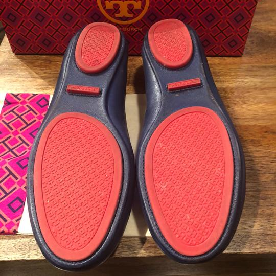 Tory Burch Navy Sea and Nantucket Red (428) Pumps
