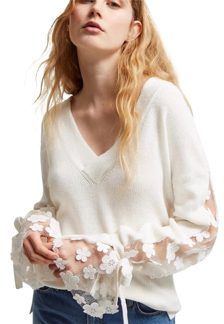 Preload https://img-static.tradesy.com/item/24220642/french-connection-caballo-lace-sleeve-sweater-0-1-650-650.jpg