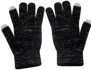 Coach Tech Soft and Stretchy Lurex Knit Gloves One Size