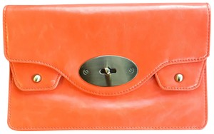 Street Level orange and gold Clutch