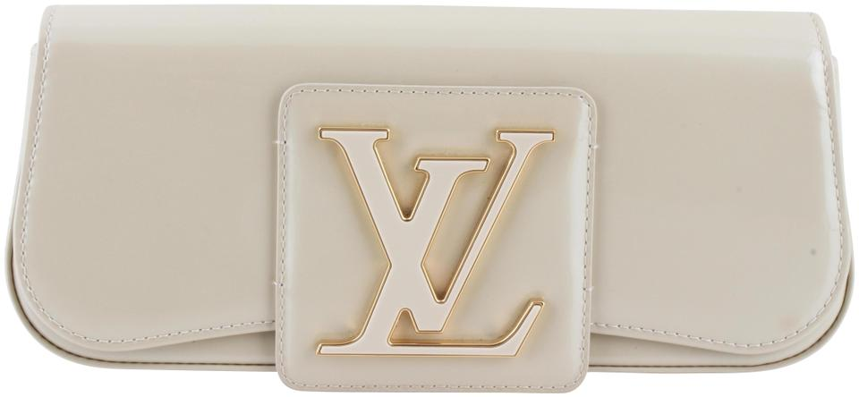 3e96c05e17 Louis Vuitton SoBe Corail Vernis Beige Patent Leather Clutch - Tradesy