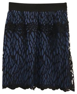 Robert Rodriguez Mini Skirt black and blue