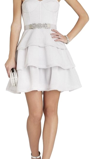 Preload https://img-static.tradesy.com/item/24221517/bcbgmaxazria-light-grey-jacklyn-tiered-ruffled-sleeveless-short-cocktail-dress-size-2-xs-0-1-650-650.jpg
