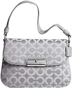 Coach Wristlet Kristin Pink Large Op Art Shoulder Bag