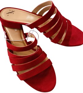 A New Day Fashionista Stylish Suede Designer Red Sandals