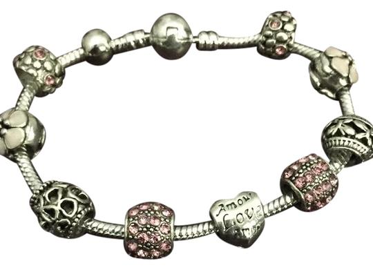 Preload https://img-static.tradesy.com/item/24221669/pink-and-silver-925-sterling-plated-bracelet-0-1-540-540.jpg