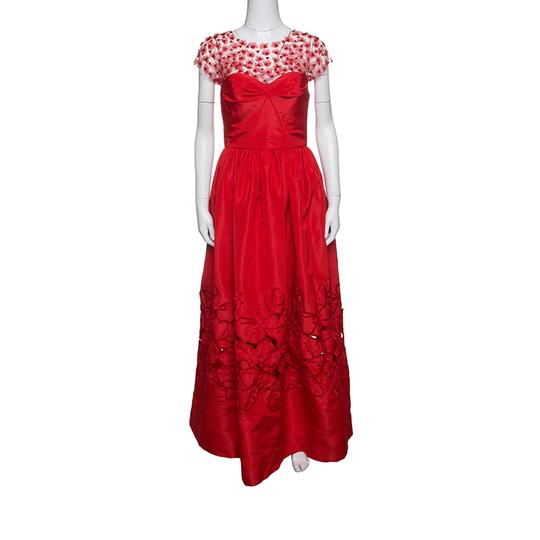 Preload https://img-static.tradesy.com/item/24221701/oscar-de-la-renta-red-sequin-floral-embellished-cutout-detail-ball-gown-s-casual-wedding-dress-size-0-0-540-540.jpg