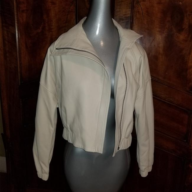Vince Sandstone Leather Jacket