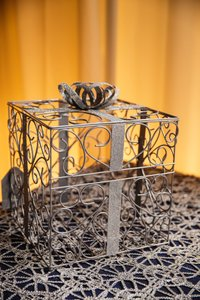 Cathy's Concepts Silver Gift Card Holder Reception Decoration