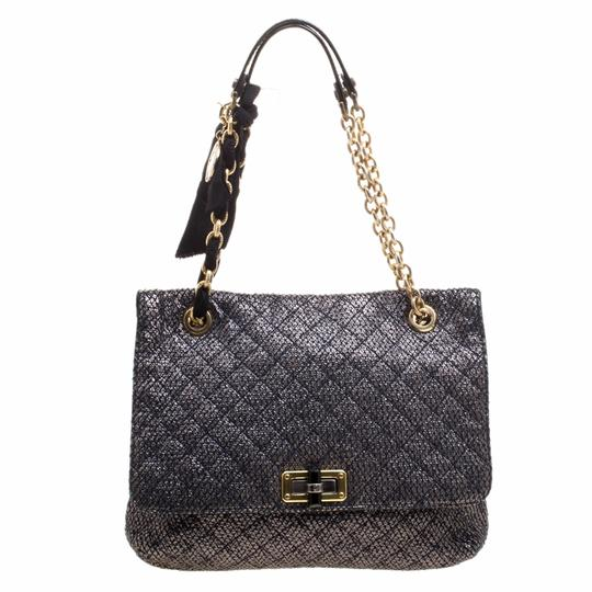 Lands' End Metallic Quilted Ceramic Shoulder Bag