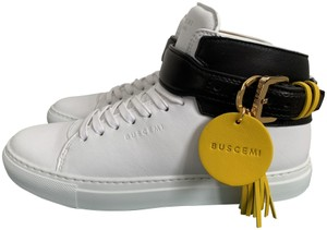 Buscemi Leather Logo Tassel Sneakers White Athletic