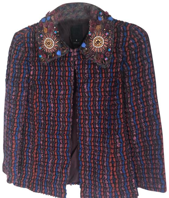 Anna Sui Limited Edition Embroidered Knitted Jacket Size 6 (S) Image 1