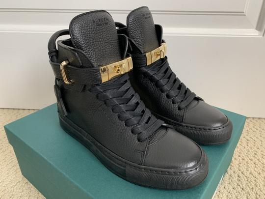 Buscemi Wedge Sneaker Lock Leather Black Athletic