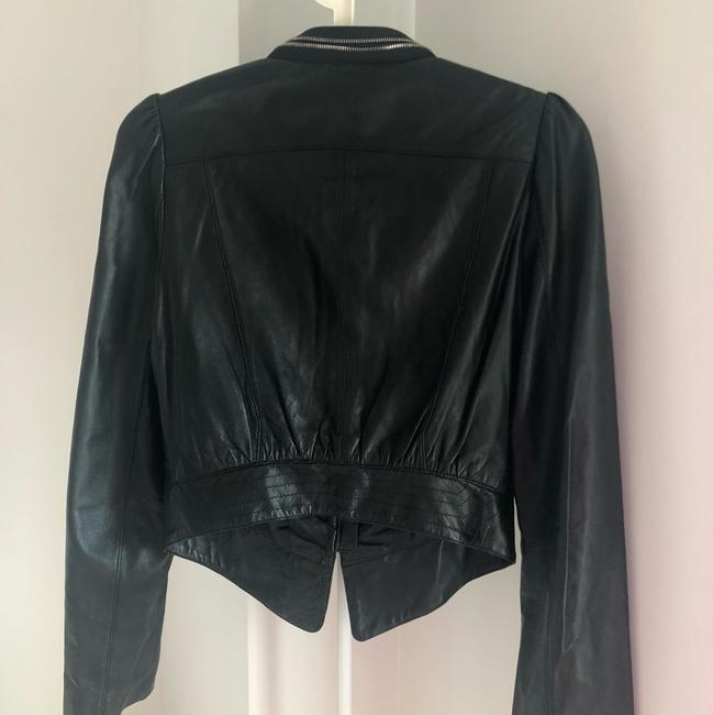 In See black Leather Jacket