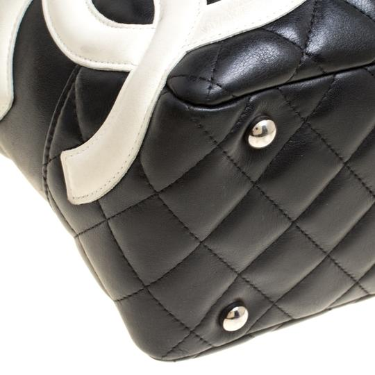 92de9d12c5 Chanel Cambon Quilted Ligne Bowler Black Leather Tote - Tradesy