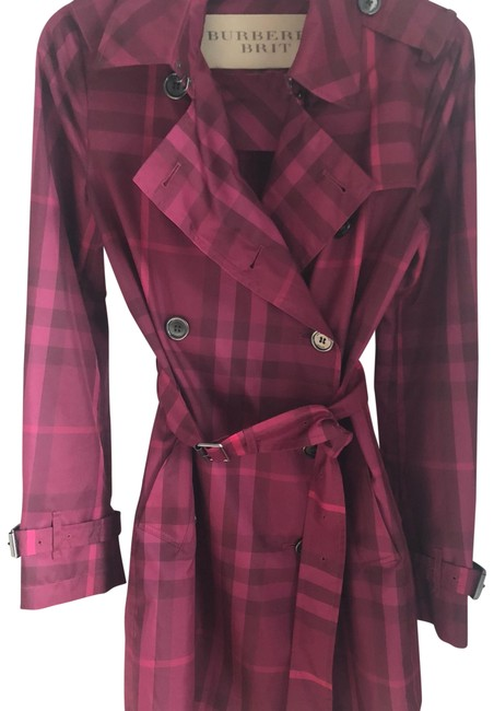 Preload https://img-static.tradesy.com/item/24221988/burberry-pink-light-trench-coat-jacket-size-4-s-0-1-650-650.jpg