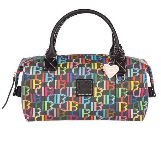 Preload https://img-static.tradesy.com/item/24222001/dooney-and-bourke-rare-db-small-duffle-multicolorblack-coated-canvasgenuine-leather-satchel-0-0-540-540.jpg