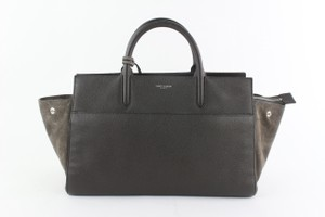 Saint Laurent Cabas Phantom Luggage Matelasse Chevron Tote in Grey