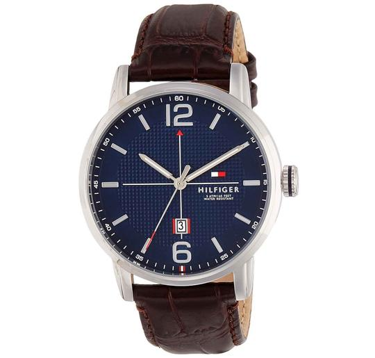 Preload https://img-static.tradesy.com/item/24222089/tommy-hilfiger-silver-wine-men-s-leather-band-1791238-watch-0-0-540-540.jpg