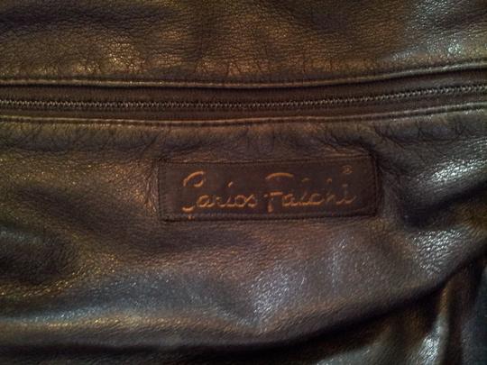 Carlos Falchi Extra Large Vintage Drawsting Closure Cinched Flap Shoulder Bag Image 3