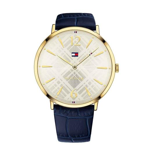 Preload https://img-static.tradesy.com/item/24222104/tommy-hilfiger-gold-blue-women-s-classic-with-leather-band-watch-0-0-540-540.jpg
