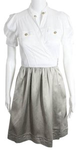Diane von Furstenberg short dress White And Gray on Tradesy