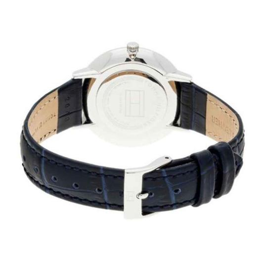 Tommy Hilfiger Tommy Hilfiger Women's Rose Gold Case Blue Leather Strap Watch
