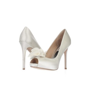 Badgley Mischka White Platforms