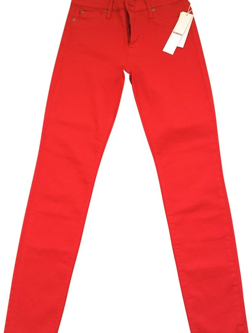 Item - Red Medium Wash Mid Rise Nico Skinny Jeans Size 6 (S, 28)