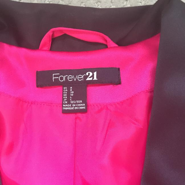 Forever 21 fuchsia with black on lapel Blazer Image 2