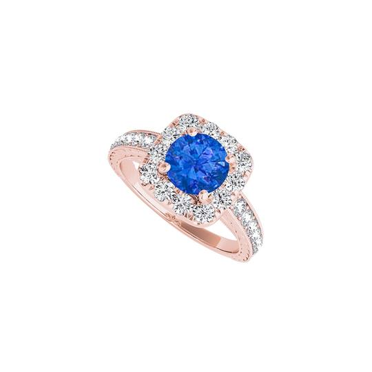 Preload https://img-static.tradesy.com/item/24222442/blue-halo-sapphire-with-cz-rows-in-rose-gold-vermeil-ring-0-0-540-540.jpg
