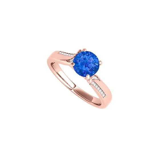 Preload https://img-static.tradesy.com/item/24222468/blue-round-sapphire-cz-in-14k-rose-gold-vermeil-ring-0-0-540-540.jpg