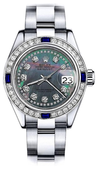 Preload https://img-static.tradesy.com/item/24222477/rolex-stainless-steel-black-pearl-string-26mm-datejust-diamond-and-sapphire-bezel-watch-0-1-540-540.jpg