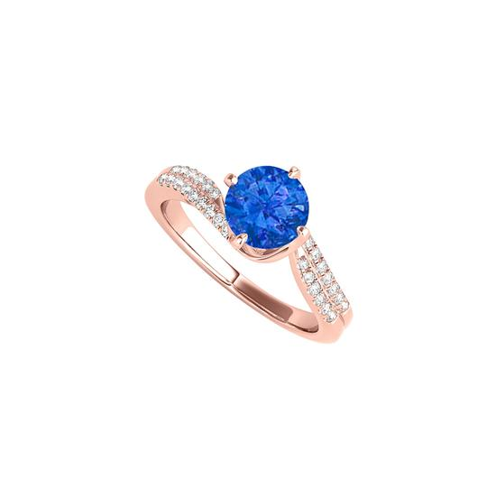Preload https://img-static.tradesy.com/item/24222495/blue-rose-gold-vermeil-with-sapphire-and-cz-rows-ring-0-0-540-540.jpg