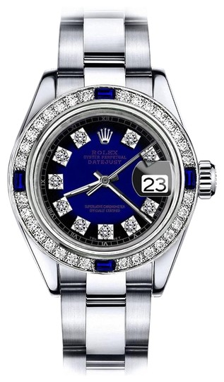 Preload https://img-static.tradesy.com/item/24222511/rolex-stainless-steel-blue-vignette-sp-26mm-datejust-diamond-and-sapphire-bezel-watch-0-1-540-540.jpg