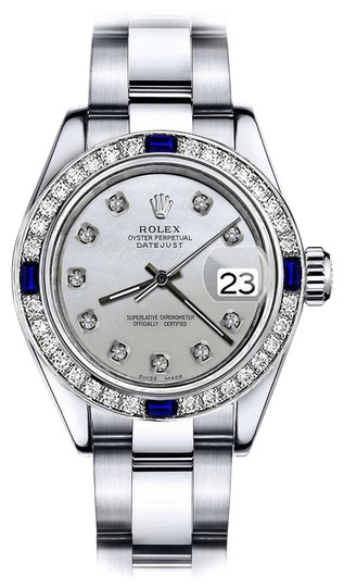 Preload https://img-static.tradesy.com/item/24222537/rolex-stainless-steel-grey-pearl-26mm-datejust-diamond-and-sapphire-bezel-watch-0-1-540-540.jpg