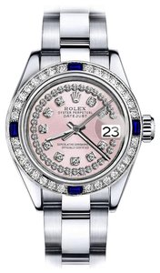 Rolex Rolex Pink String 26mm Datejust Diamond & Sapphire Bezel