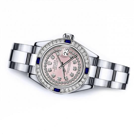 Rolex Rolex Pink String 26mm Datejust Diamond & Sapphire Bezel Image 1