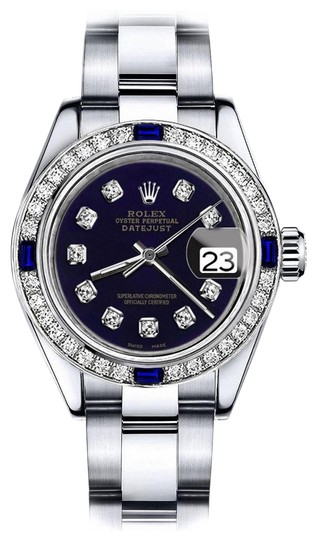 Preload https://img-static.tradesy.com/item/24222608/rolex-stainless-steel-purple-26mm-datejust-diamond-and-sapphire-bezel-watch-0-1-540-540.jpg