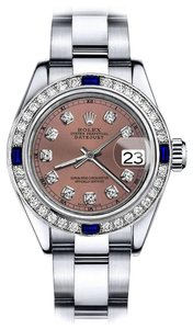 Rolex Rolex Salmon 26mm Datejust Diamond & Sapphire Bezel