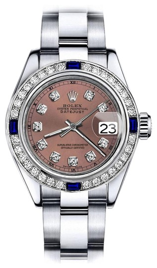 Preload https://img-static.tradesy.com/item/24222611/rolex-stainless-steel-salmon-26mm-datejust-diamond-and-sapphire-bezel-watch-0-1-540-540.jpg