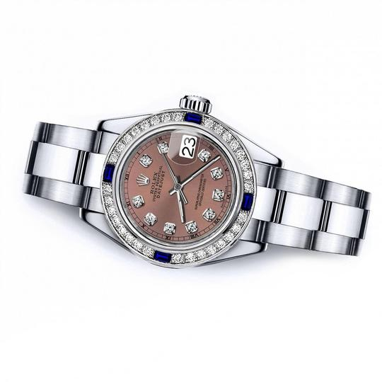 Rolex Rolex Salmon 26mm Datejust Diamond & Sapphire Bezel Image 1