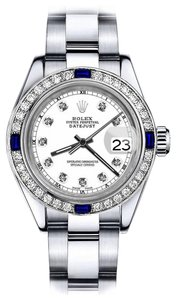 Rolex Rolex White Track 26mm Datejust Diamond & Sapphire Bezel