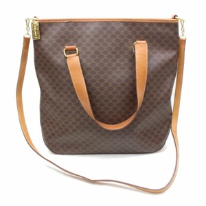 Céline Sac Plat Shopper Neverfull Shopping 2way Tote in Brown